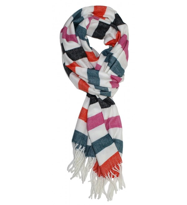 Ted and Jack - Ted's Classic Cashmere Feel Checkered or Plaid Scarf - Multicolor Stripes - CE12MYPOFIW