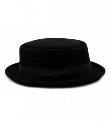 Mens Crushable Porkpie Feather HE09 in Men's Fedoras