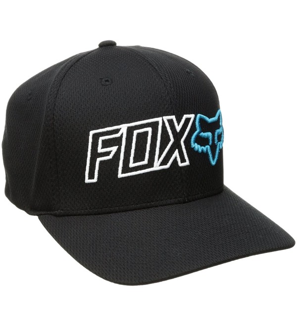 Fox Men's Outline Flexfit Hat - Black - CD17YLGDLSW