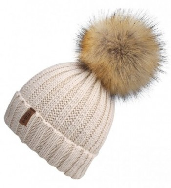 Womens Knitted Winter Beanie bobble