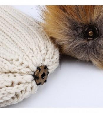 Womens Knitted Winter Beanie bobble in Women's Skullies & Beanies