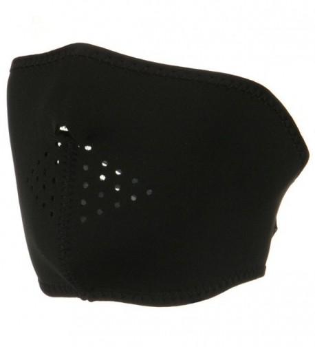 Oversized Neoprene Half Face Mask - Black - C6116S2RPS1