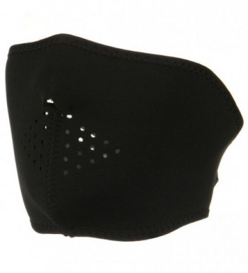 Oversized Neoprene Half Face Mask - Black - C6116S2RPS1