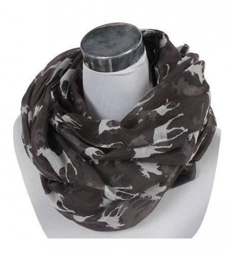 70 Styles- Nexxgen USA Fashion Infinity Scarfs for Women Animal Print American Flag - Moose- Black - CA12HL4VDHN