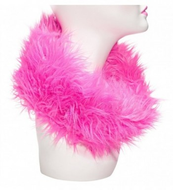 Three Cheers for Girls Faux Fur Reversible Scarf- Pink Mink - CK11C69WWIX