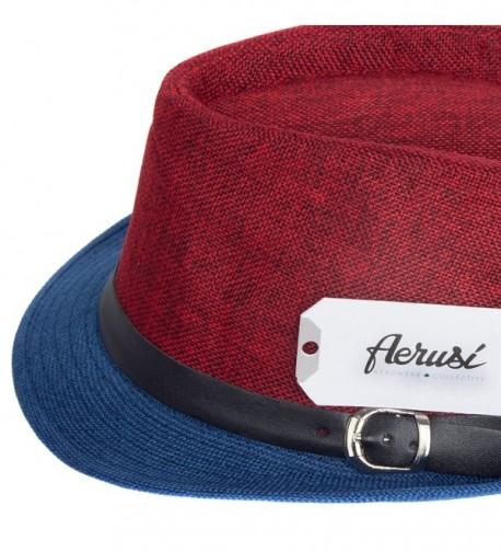 Aerusi Mens Fusion Straw Fedora in Men's Fedoras
