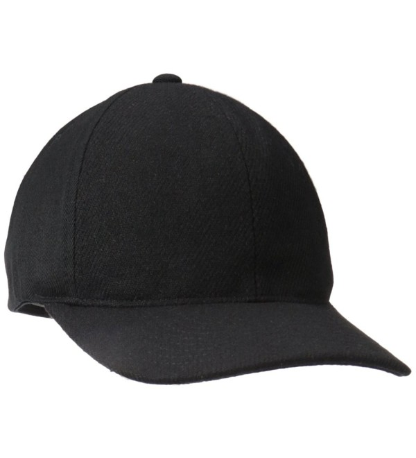 Kangol Men's Textured Wool Baseball - Black - C312HQZ43XD