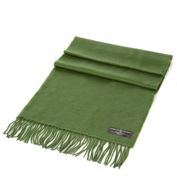 SERENITA Unisex Super Soft Cashmere Feel Solid Color Scarf - New Olive - CK18795GNS6