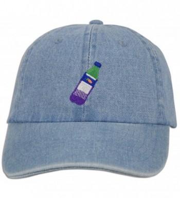 JLGUSA Lean Codein Dirty Sprite Emoji Memes Embroidered Dad Hat Baseball Cap Adjustable - Lt. Blue Denim - C2183YY5CY2