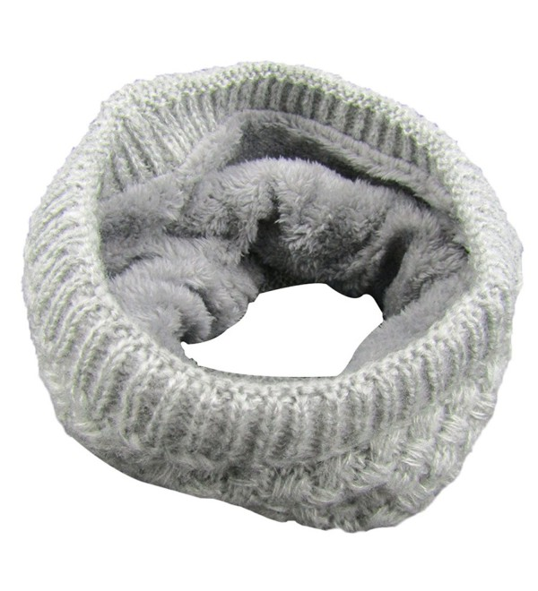 TagoWell Winter Women Infinity Scarf knit Neck Warmer Thick Circle Loop Scarves - Gray - CN187UNAAQ6