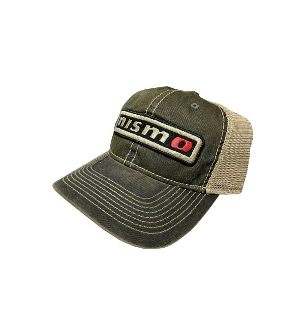 Vintage Nismo T-Stained Mesh Snapback Cap - Tan Lettering/Black Border - CW12NYZM57B