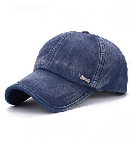 GTI Washed Cotton Blend Golf Hip-hop Cap Sports Adjustable Outdoor Hat - Blue - CH17YC9DLUZ