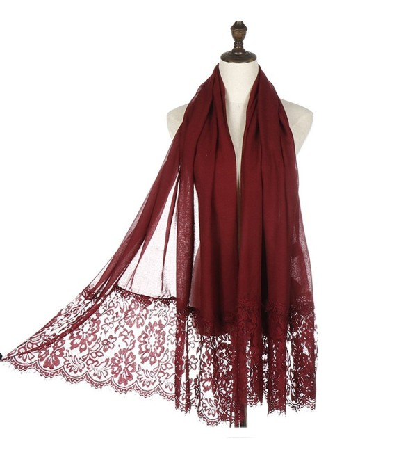 Lightweight Fashion RiscaWin Autumn Scarves - Wine Red - C417Z39GTC5