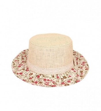 Lace Band Floral Porkpie Straw