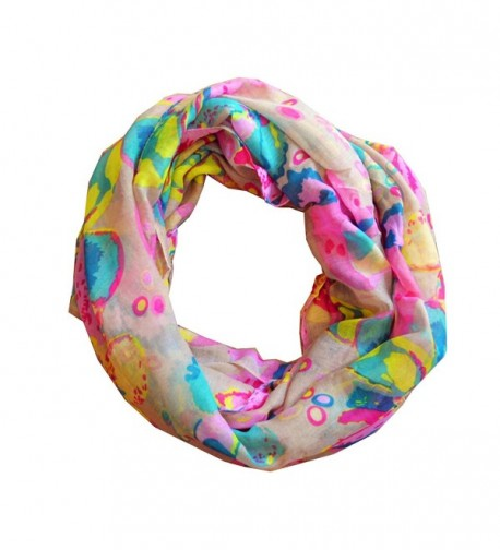 SCARF_TRADINGINC floral Tiny Infinity Loop Scarf - Sand Pink - CO11MA6NLYP