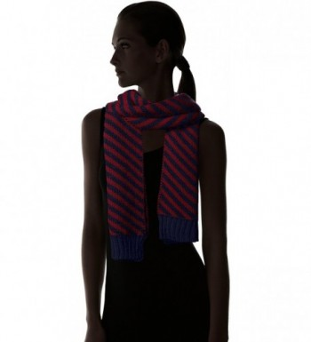 Nautica Womens Bias Stripe Scarf in Cold Weather Scarves & Wraps