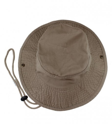 Gelante 100% Cotton Stone-Washed Safari Booney Sun Hats - Khaki - C817XMMHZT2