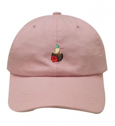 City Hunter C104 Coconut Drink Cotton Baseball Dad Cap 19 Colors - Pink - C81836R0708