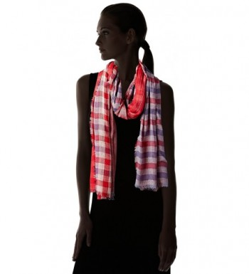 Womens Reversible Americana Plaid Scarf in Fashion Scarves