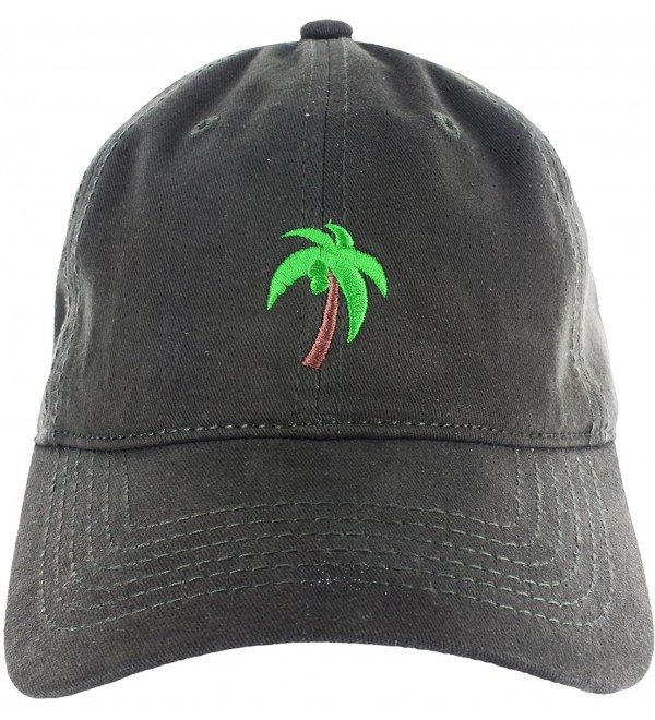 e4c9d9026 Palm Tree Hat Dad Hat Coconut Tree Embroidered Adjustable Baseball Cap Dark  Green C312ICHKN2T