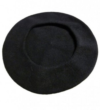 Black Wool Beret Parisian CoverYourHair