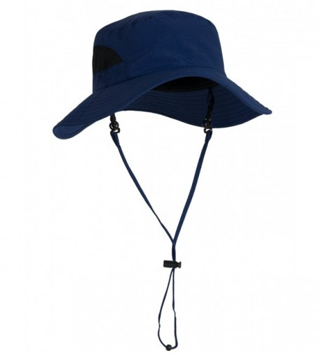 Tuga Adult Playa Wide Brim Bucket Sun Hats - UPF 50+ Sun Protection - Navy - CJ11ZUGNOEF