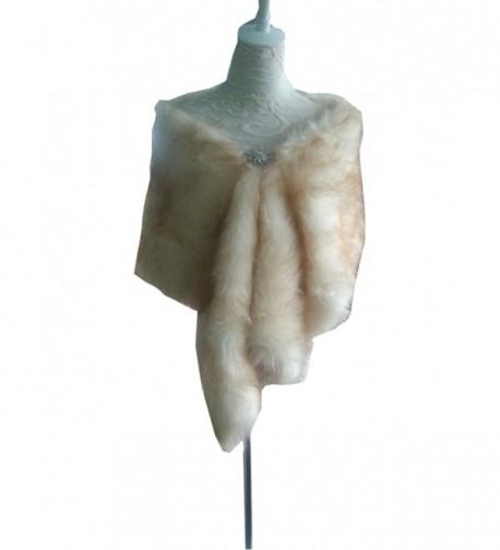 A&C Warm Faux Fur Bride Wedding Shawl Perfect for Wedding/Party/Show Ivory - CM12N273MGS