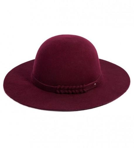 2f9b356c7 Ladies Wool Felt Top Hat Wide Brim Winter Vintage Fedora Hats Thick Warm  16078_burgundy CR12MZHZS9C
