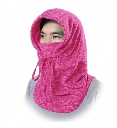 JIUSY Windproof Fleece Neck Warmer Hood Balaclava Face Mask for Cold Weather - red - CL188U2GHNH