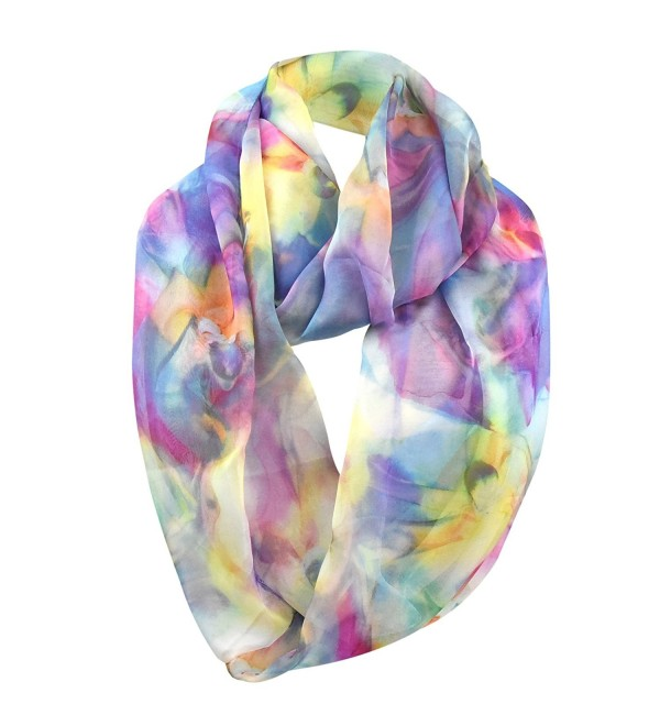Chiffon Infinity Scarf for Women - Multi - CW12O5LJIIN