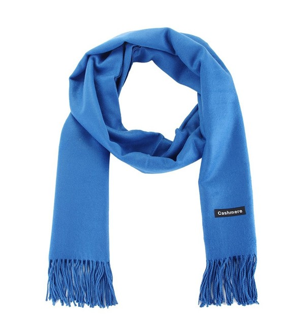 Winter Cashmere Lambswool Fringe Valentines - Blue - C8126NRM5YJ