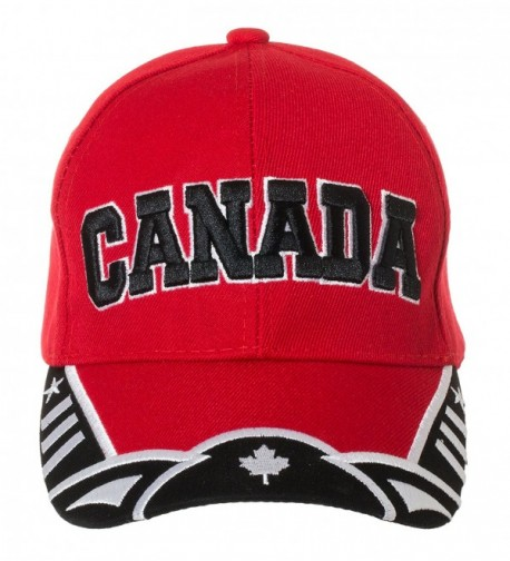 Artisan Owl Canada Red and White National Pride Hat - 100% Acrylic Embroidered Cap - CR1824TTRLY