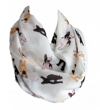 Etwoa's French Bulldog Black Brown Print Infinity Scarf Circle Scarf Loop Scarf - CH12OBNQ3UI