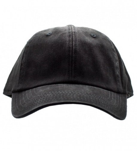 American Needle Blank Ragaln Washed Hat in Black - CS12NUCBYH1