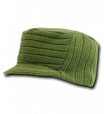 Decky Men's Flat Top Knit Visor Beanie Jeep Cap (2 Pack) - CR11EMM2RGJ