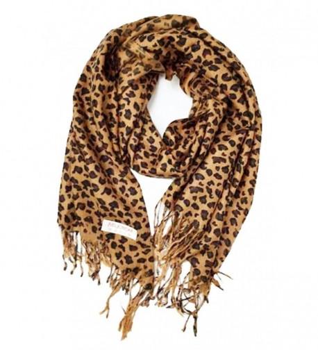 Animal Print Fringed Shoulder Pashmina Wrap Scarf - Leopard Zebra Patterns - CC120J2H1RZ