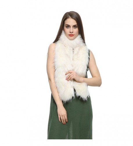 Dikoaina Womens Extra Raccoon Collar in Fashion Scarves
