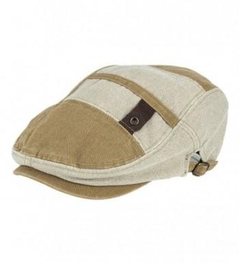 NTC TNC Men's Gatsby IVY Irish Hunting newsboy Cabbie Hat Cap Beige - CA12EALQW93