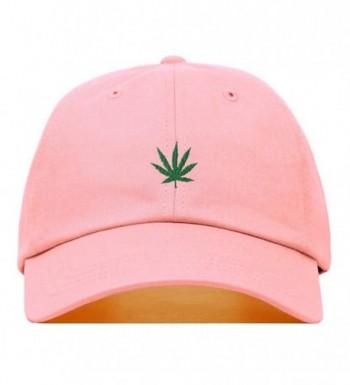Marijuana Embroidered Baseball Unstructured Adjustable - Light Pink - CX187NIS95R