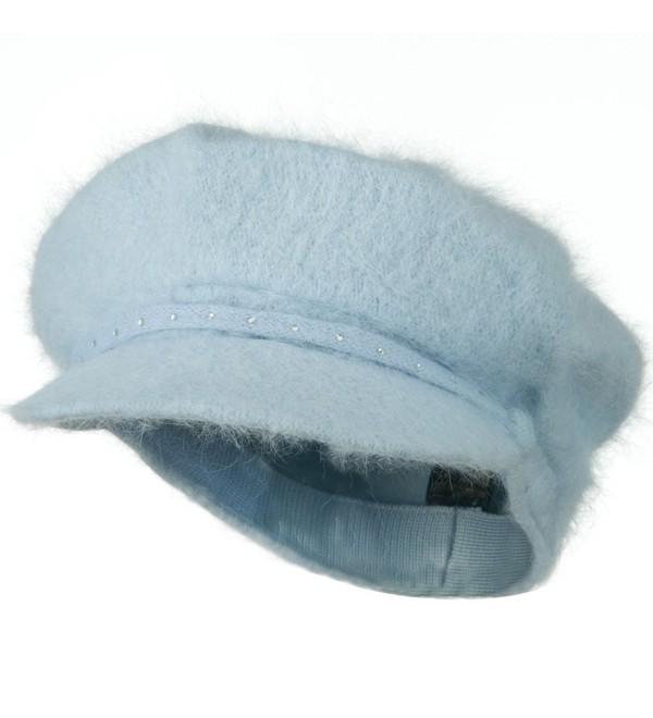 Rhinestones Angora Newsboy Hat - Light Blue W16S61C - CW110J661S7
