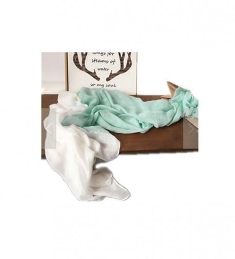 CAICAI Women's Summer Air Conditioning Shawls Soft Scarf Beach Sunscreen Wraps - Green White - C012HDPYC3R