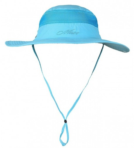 Nanji Camping Hat Outdoor Quick-Dry Hat Sun Hat Fishing Cap - Azure1 - C0186QGECKS