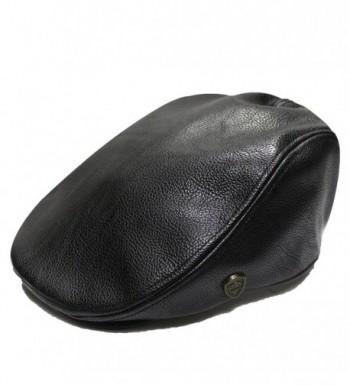 City Hunter Pml1100 Pamoa Faux Leather Classic ivy Cap (3 Colors) - Black - CE11GM0ELVN