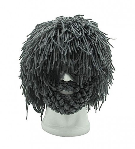 Barbarian Knitted Beard Winter Funny in Men's Skullies & Beanies