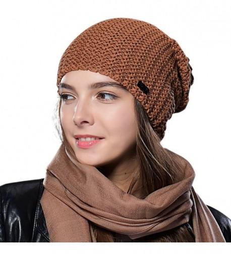 4cfa7a53e1e ... Merino Wool Knitted Hats Caps For Women Girls. FURTALK Womens Winter  Slouchy Beanie