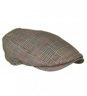 Plaid Pattern Driver Hunting Newsboy in Men's Newsboy Caps