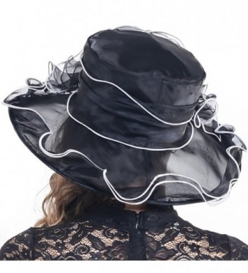 Kentucky Church Organza Colours SM019 Black in Women's Sun Hats