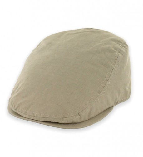 Belfry Street Tonic Lightweight Cotton Ripstop Ivy Cap in 4 Colors - Tan - C112G8TK9PT