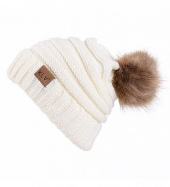 Connia TM Knitting Crochet Slouchy - White - CQ188RSUU8U