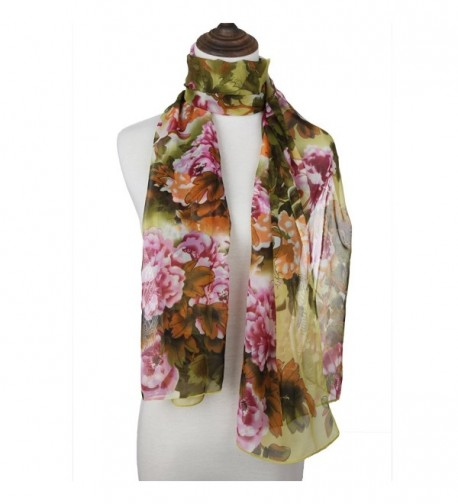 ChikaMika Chiffon Scarves Lightweight Green in Fashion Scarves